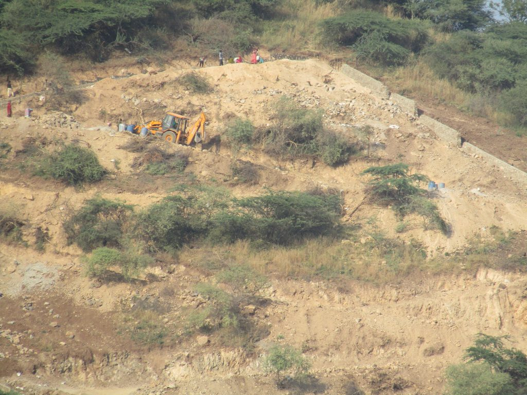 construction on Mountain in Dewali