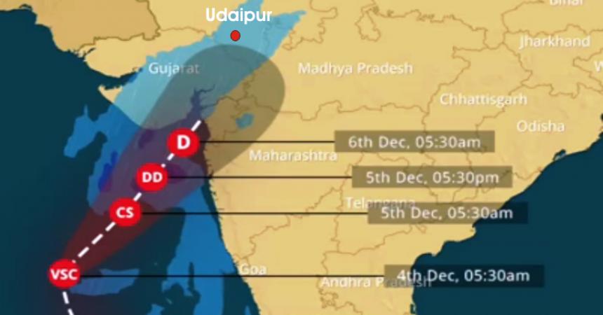 ockhi cyclone Udaipur