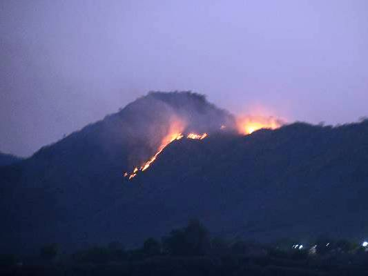 Fire Udaipur hill