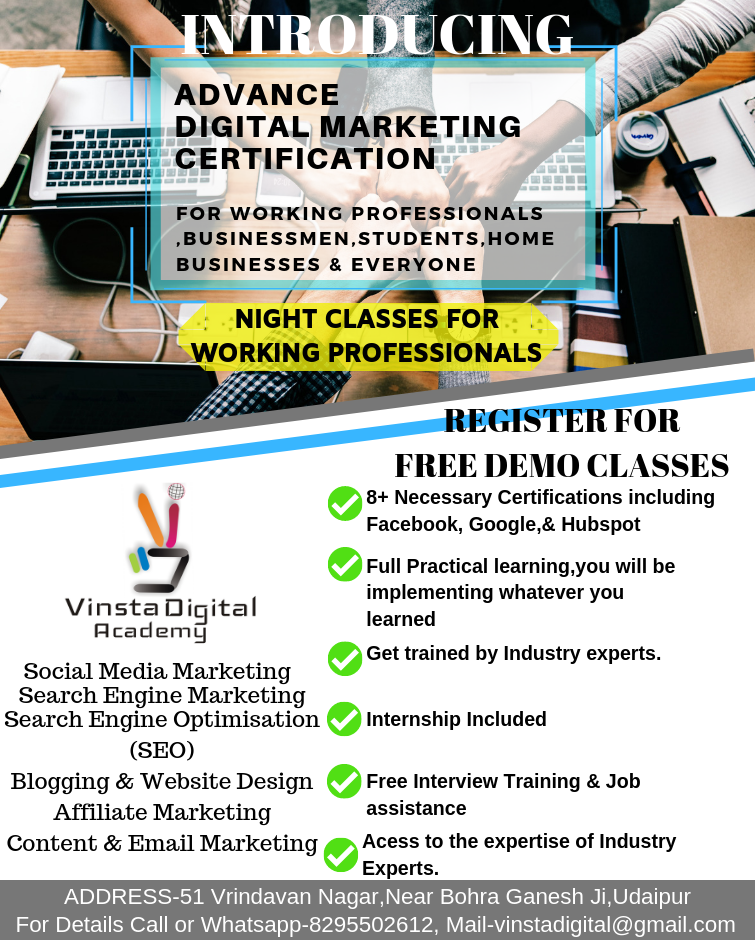 digital marketing training in Udaipur