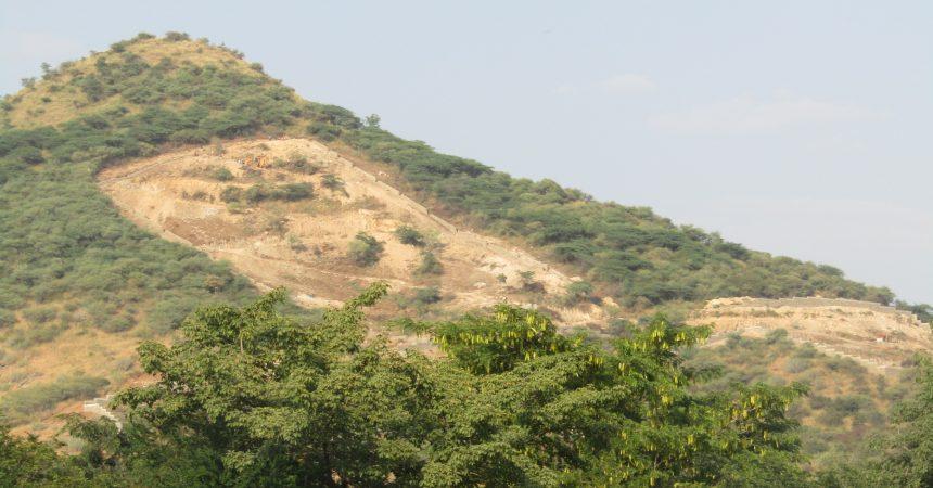 NTRO construction on Dewali Mountain