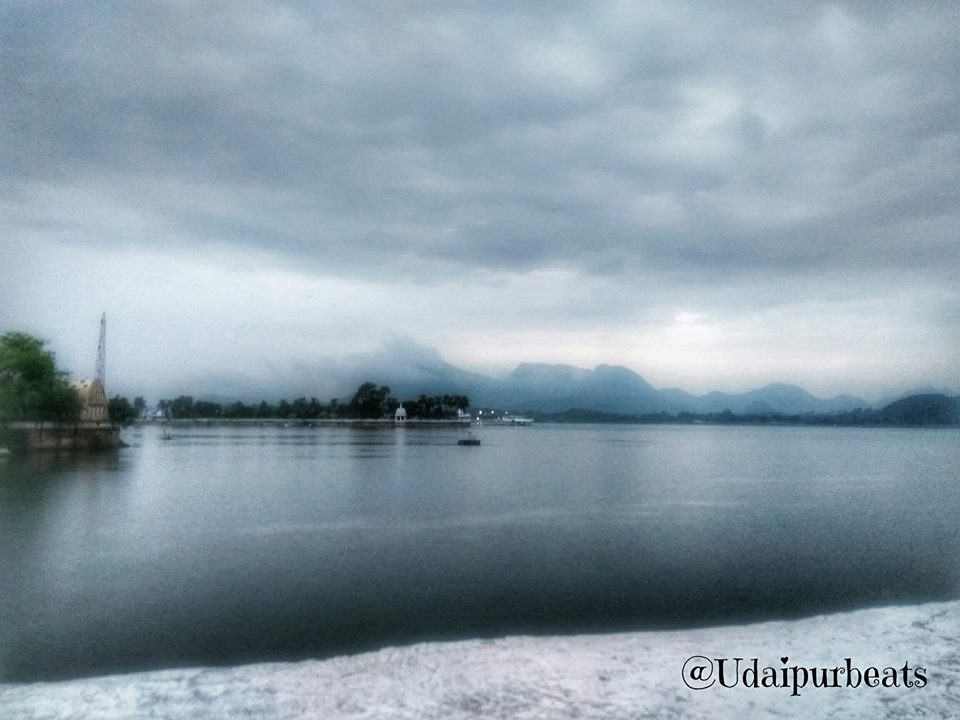 Fatehsagar Lake in Monsoon