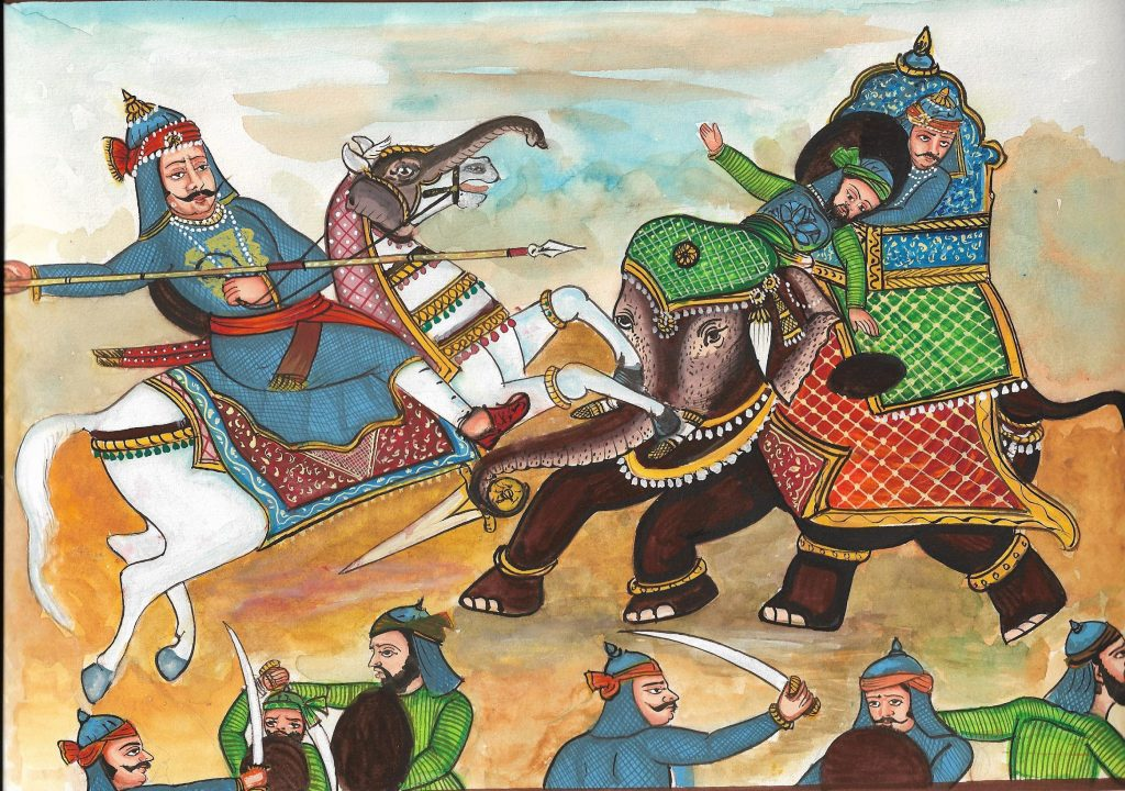 Maharan Pratap attack on Man Singh